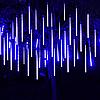 """Гирлянда-шторка """"Падающая капля"""" 30см, 8 метиоритов, синяя двухсторонняя"""