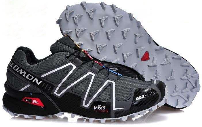 Мужские кроссовки Salomon Speedcross 3 (серые) 10128