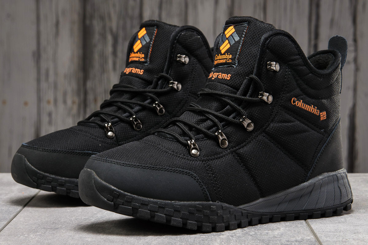 Зимние мужские кроссовки 31231, Columbia Waterproof, черные, [ 42 43 44 ] р. 41-26,5см.