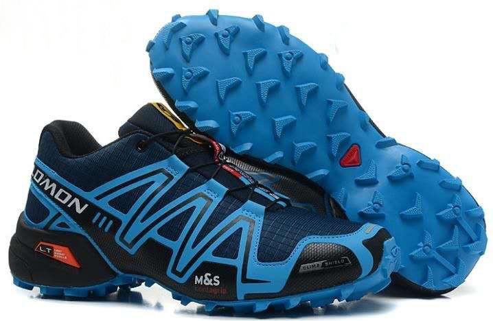 Мужские кроссовки Salomon Speedcross 3 (синие) 10131