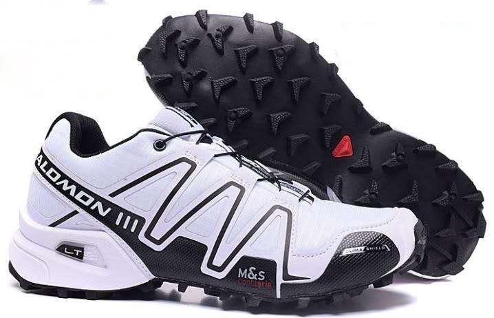 Мужские кроссовки Salomon Speedcross 3 (белые) 10133
