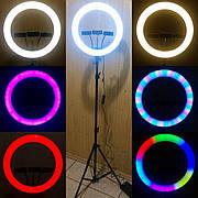 Кольцевая лампа 36 см RGB со штативом на 2м лампа для селфи лампа для тик тока