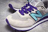 Кроссовки женские 17885, New Balance  574, бежевые, [ 36 39 41 ] р. 36-22,5см., фото 5