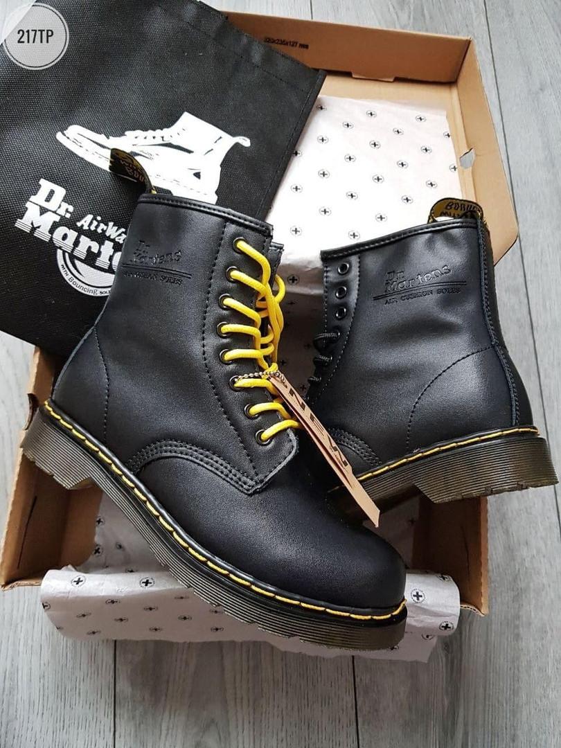 Мужские зимние ботинки Dr. Martens ЗИМА МЕХ (черные) 217TP