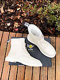 Женские ботинки Dr.Martens 1460 White Cream мех(копия), фото 3
