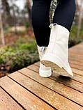 Женские ботинки Dr.Martens 1460 White Cream мех(копия), фото 4