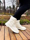 Женские ботинки Dr.Martens 1460 White Cream мех(копия), фото 5