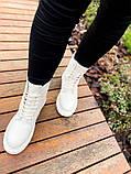 Женские ботинки Dr.Martens 1460 White Cream мех(копия), фото 8