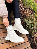 Женские ботинки Dr.Martens 1460 White Cream мех(копия), фото 10