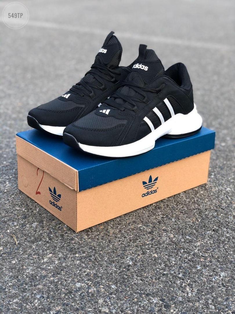 Мужские кроссовки Adidas Black/White (черно-белые) 549TP