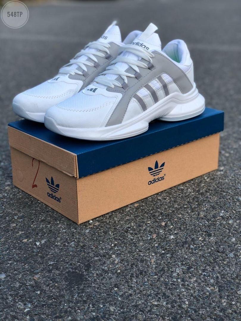 Мужские кроссовки Adidas White (белые) 548TP