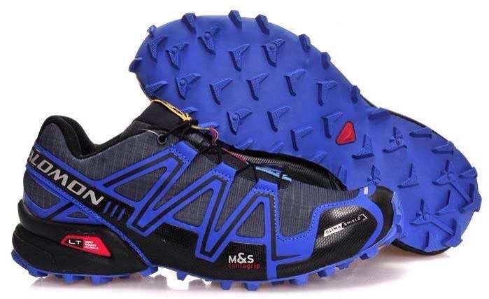 Мужские кроссовки Salomon Speedcross 3 (синие с темно-синим) 10134