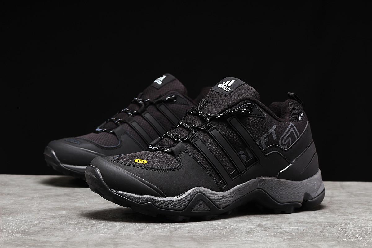 Зимние мужские кроссовки 31252, Adidas 465, черные, [ нет в наличии ] р. 41-26,3см.