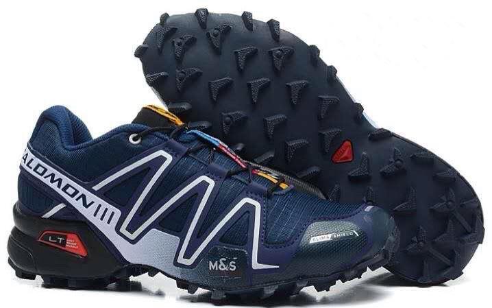 Мужские кроссовки Salomon Speedcross 3 (темно-синие) 10137