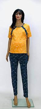 Комплект пижама футболка и штаны для беременных и кормящих мам