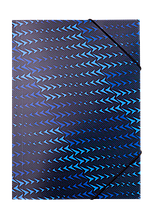 Папка на резинках А4 FLASH, синий
