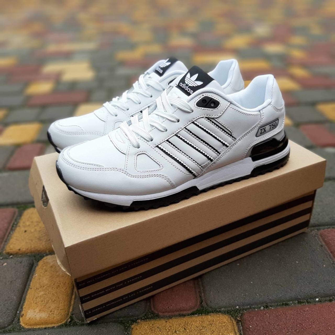 Мужские кроссовки Adidas ZX 750 (белые) 10321