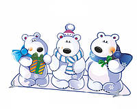 Декорація ☆ Білі ведмеді ☆ Новий Рік