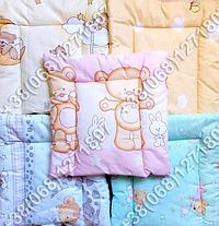 Детская подушка для новорожденных 40х40 в кроватку (много расцветок), фото 2