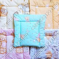 Детская подушка для новорожденных 40х40 в кроватку (много расцветок), фото 3