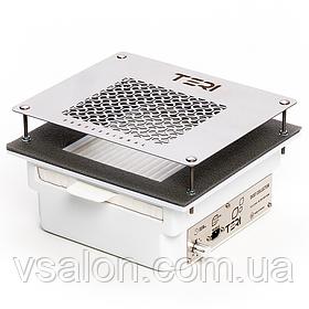 Встраиваемая в стол маникюрная вытяжка с HEPA фильтром Teri 600 (нержавеющая сетка)