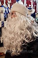 Парик Деда мороза белый длинный
