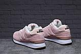 Зимние женские кроссовки 31353, New Balance 574 (мех), бледно-розовые, [ 38 40 ] р. 38-24,0см., фото 3