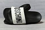 Шлепанцы женские 17393, Moschino, черные, [ 37 38 ] р. 37-23,8см., фото 3