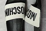 Шлепанцы женские 17393, Moschino, черные, [ 37 38 ] р. 37-23,8см., фото 5