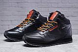 Зимние мужские кроссовки 31482, Reebok Classic (мех), черные, [ нет в наличии ] р. 45-29,0см., фото 2