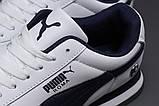 Кроссовки мужские 18022, Puma Roma, белые, [ 44 45 46 ] р. 44-27,7см., фото 5