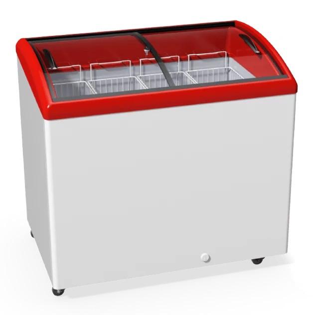 Морозильный ларь  YUKA M300S с гнутым стеклом