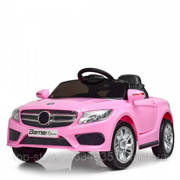 Детский электромобиль M 2772 EBLR-8, Mercedes, колеса EVA, амортизаторы, кожаное сиденье, розовый