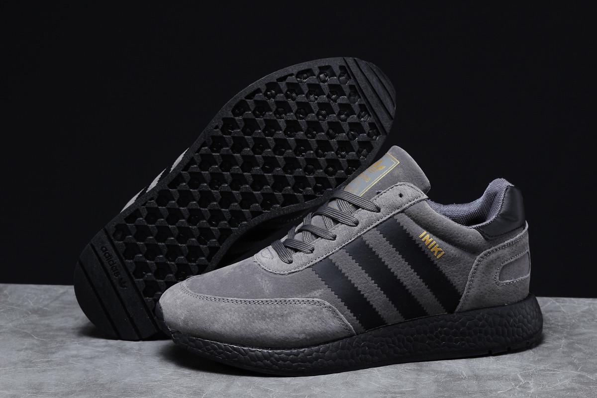 Зимние мужские кроссовки 31663, Adidas Iniki, темно-серые, [ 43 46 ] р. 43-26,5см.