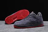 Зимние мужские кроссовки 31732, Nike Air AF1 (мех), темно-серые, [ 42 43 44 ] р. 42-26,5см., фото 4