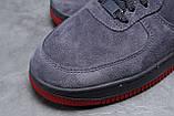Зимние мужские кроссовки 31732, Nike Air AF1 (мех), темно-серые, [ 42 43 44 ] р. 42-26,5см., фото 5