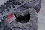 Зимние мужские кроссовки 31732, Nike Air AF1 (мех), темно-серые, [ 42 43 44 ] р. 42-26,5см., фото 7