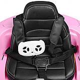 Детский электромобиль M 2772 EBLR-8, Mercedes, колеса EVA, амортизаторы, кожаное сиденье, розовый, фото 3