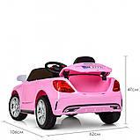 Детский электромобиль M 2772 EBLR-8, Mercedes, колеса EVA, амортизаторы, кожаное сиденье, розовый, фото 4