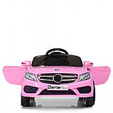 Детский электромобиль M 2772 EBLR-8, Mercedes, колеса EVA, амортизаторы, кожаное сиденье, розовый, фото 2