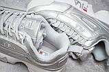 Кроссовки женские 13558, Fila Disruptor 2, серебряные, [ нет в наличии ] р. 41-25,6см., фото 6