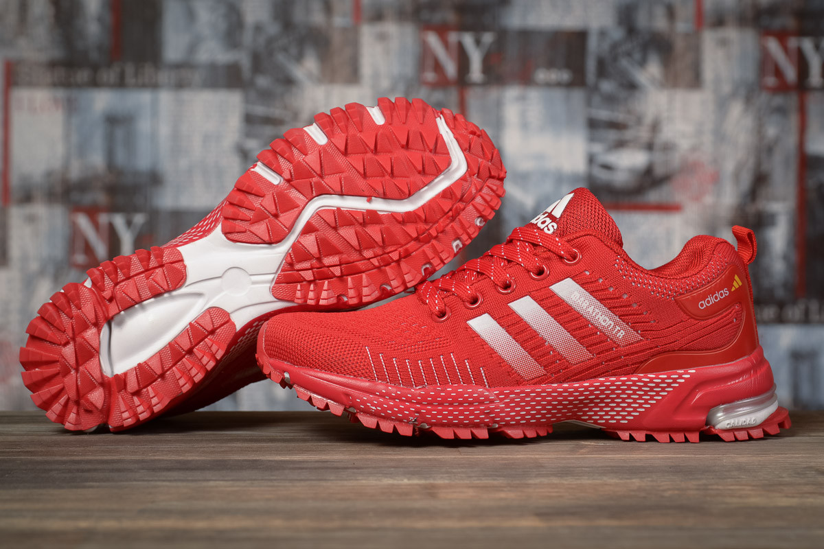 Кроссовки женские 17007, Adidas Marathon Tn, красные, [ 36 39 ] р. 36-22,5см.