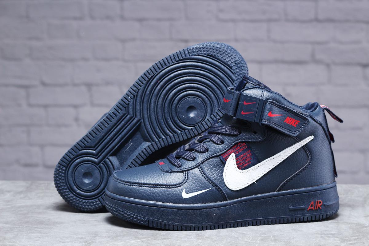 Зимние женские кроссовки 31413, Nike Air (мех), темно-синие, [ нет в наличии ] р. 39-25,1см.