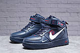 Зимние женские кроссовки 31413, Nike Air (мех), темно-синие, [ нет в наличии ] р. 39-25,1см., фото 2