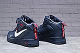 Зимние женские кроссовки 31413, Nike Air (мех), темно-синие, [ нет в наличии ] р. 39-25,1см., фото 3