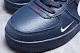 Зимние женские кроссовки 31413, Nike Air (мех), темно-синие, [ нет в наличии ] р. 39-25,1см., фото 4