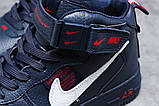 Зимние женские кроссовки 31413, Nike Air (мех), темно-синие, [ нет в наличии ] р. 39-25,1см., фото 5