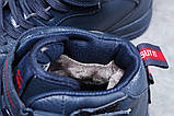 Зимние женские кроссовки 31413, Nike Air (мех), темно-синие, [ нет в наличии ] р. 39-25,1см., фото 6