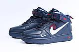 Зимние женские кроссовки 31413, Nike Air (мех), темно-синие, [ нет в наличии ] р. 39-25,1см., фото 7