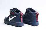 Зимние женские кроссовки 31413, Nike Air (мех), темно-синие, [ нет в наличии ] р. 39-25,1см., фото 8